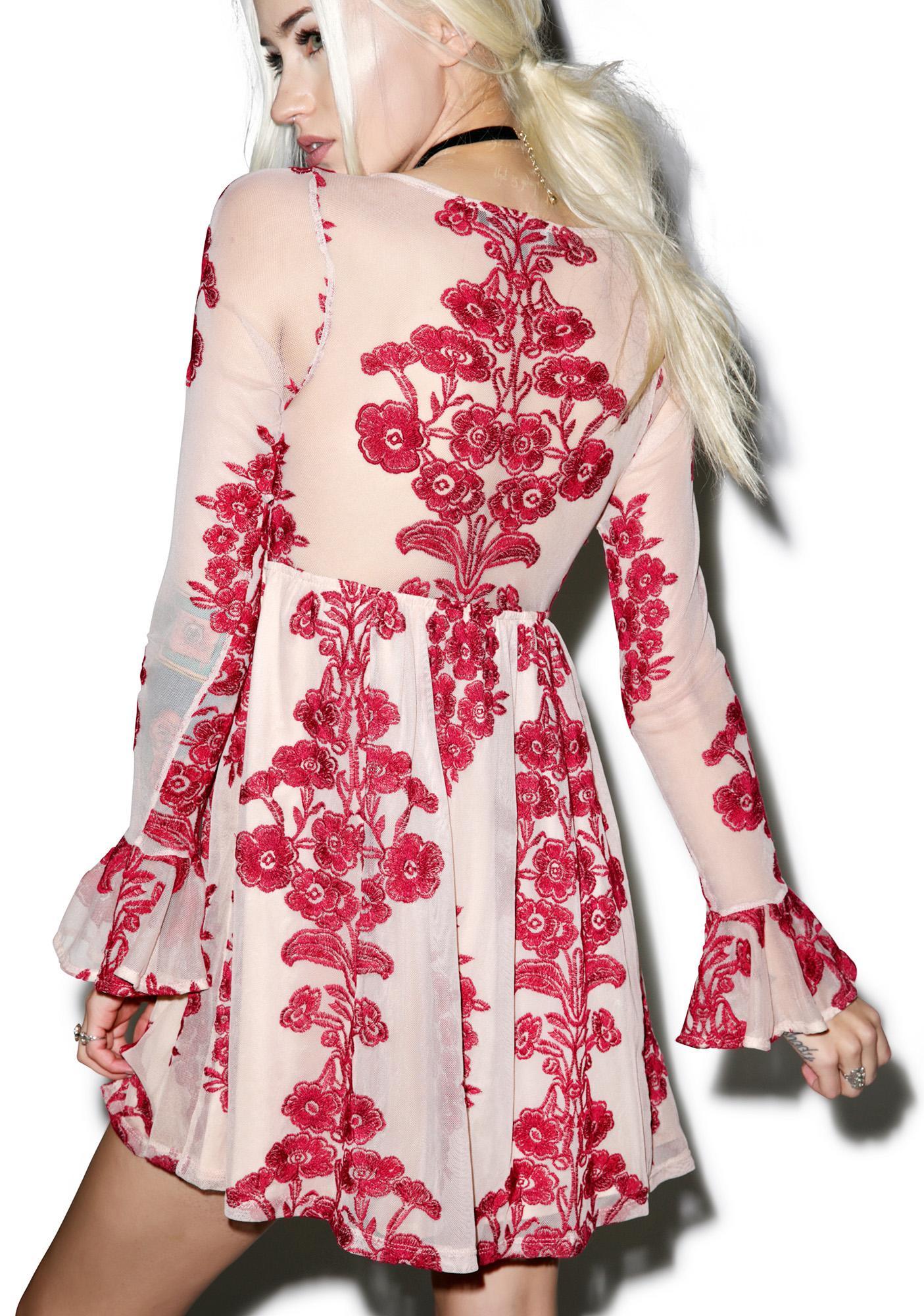 For Love & Lemons Temecula Wine Mini Dress