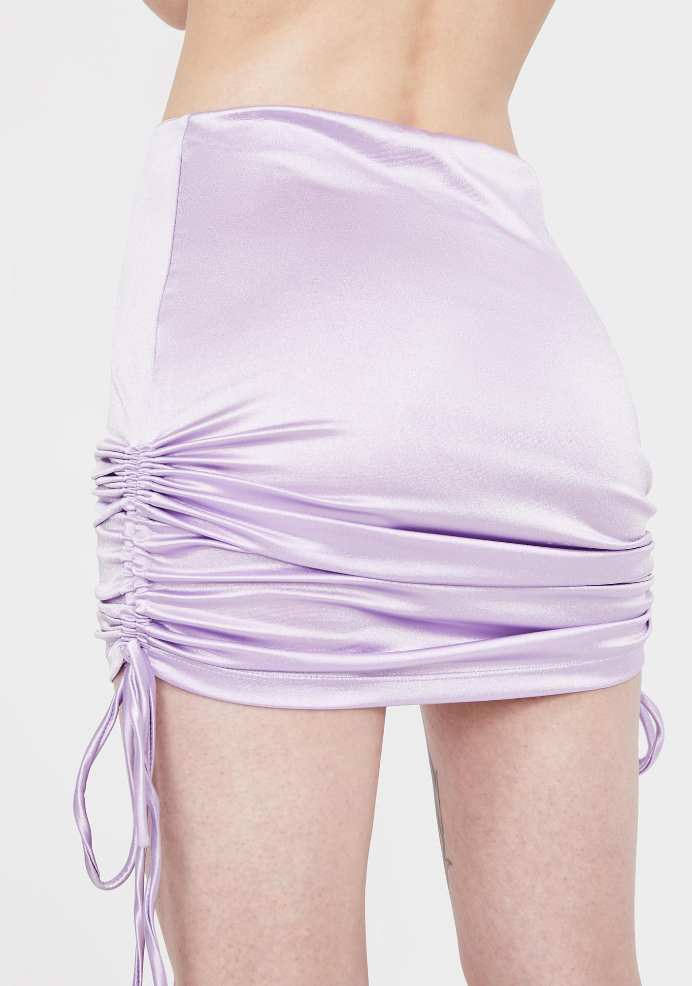 Kiki Riki Pampered & Perfect Ruched Satin Skirt