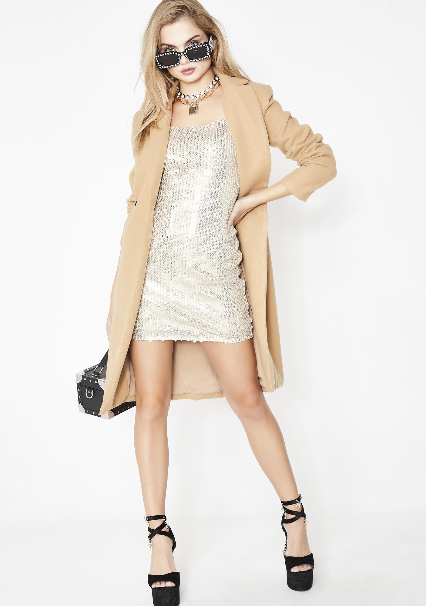 Shiny Tingz Mini Dress
