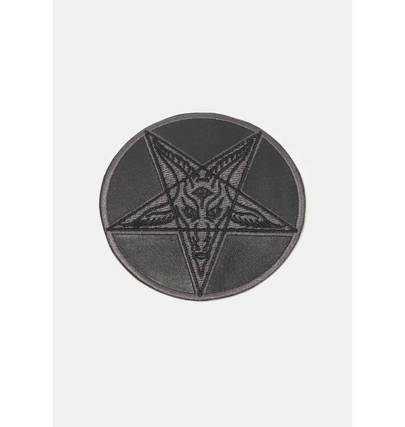 Kreepsville 666 Satanic Circle Shiny Red Patch