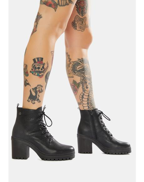 Bandit Leather Booties