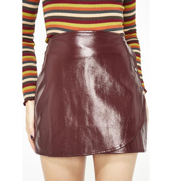 Baddie Company Vinyl Skirt
