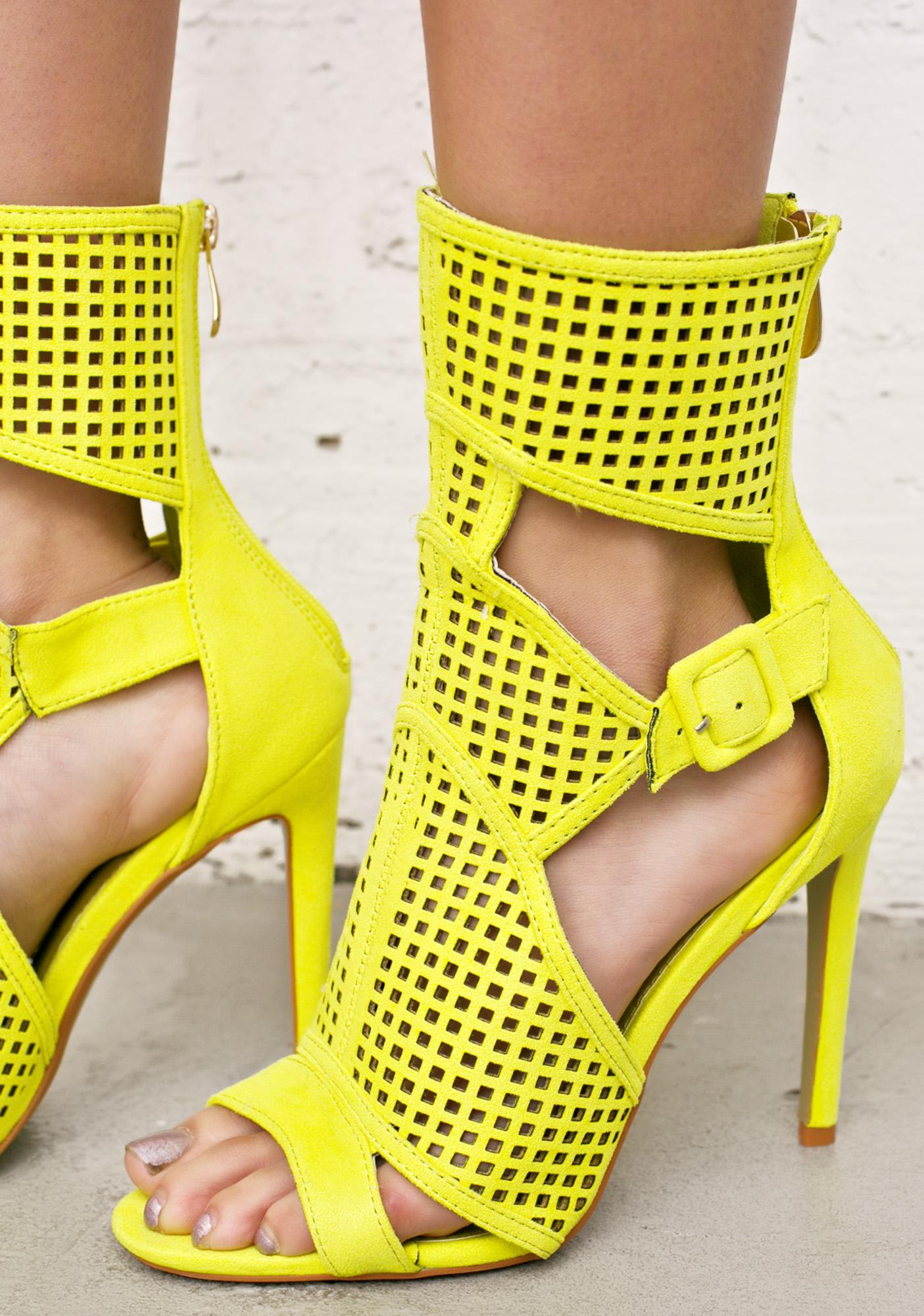 Sun Dipped Cut-Out Heels