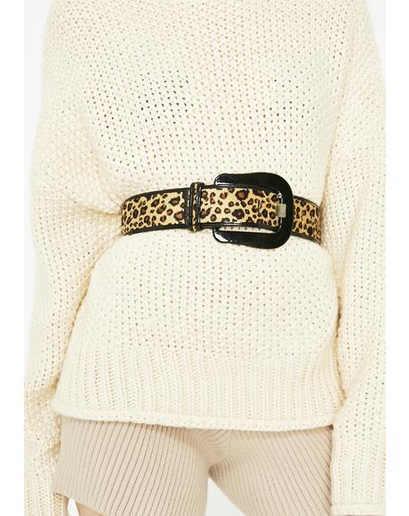 Jungle Fever Leopard Belt