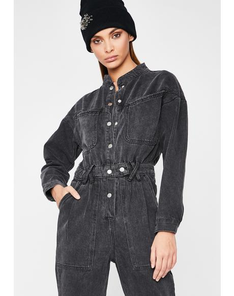 Business As Usual Denim Jumpsuit