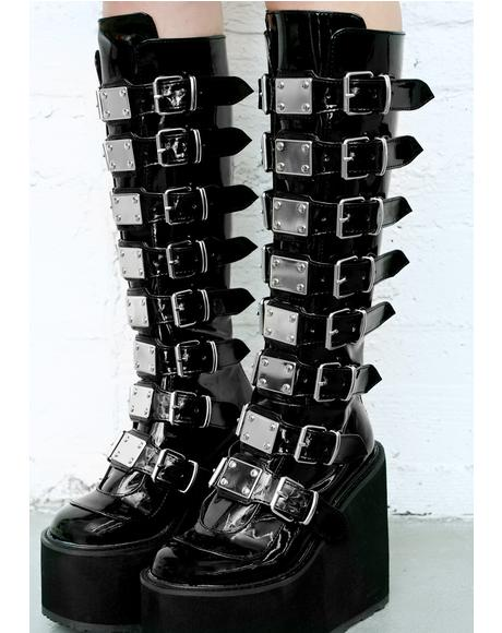 Patent Trinity Boots