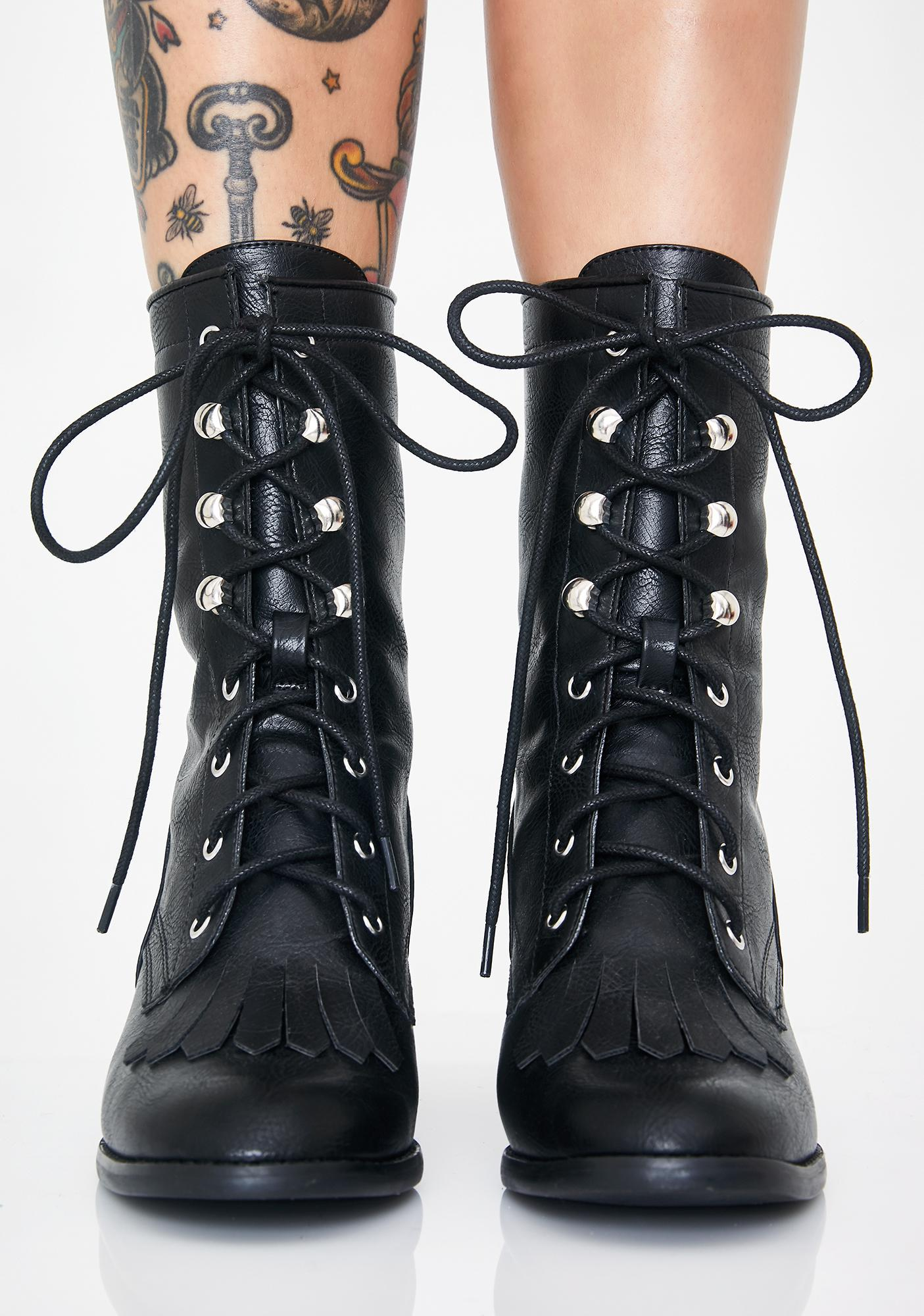 Current Mood Grunge Matter Lace-Up Boots