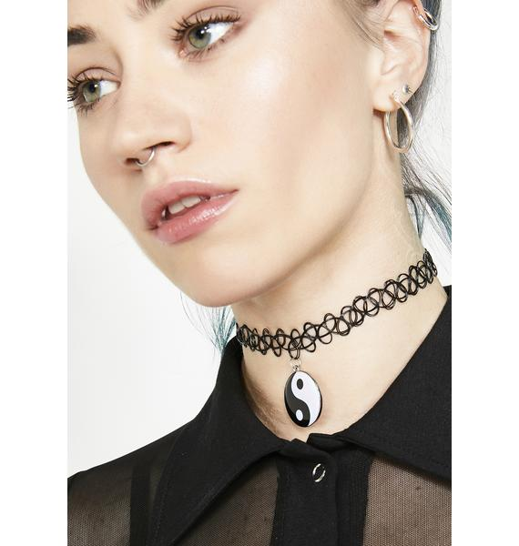Coexisting Power Tattoo Choker