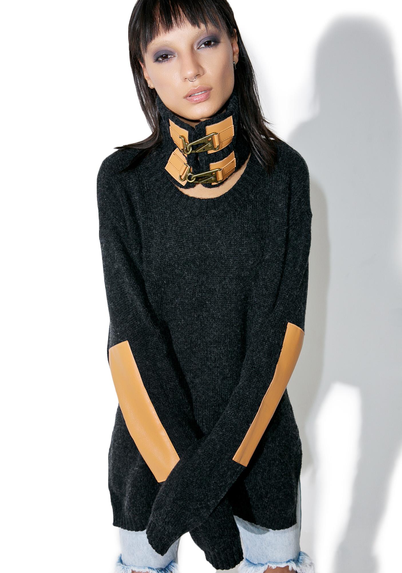 One Teaspoon Grandview Buckled Knit Sweater