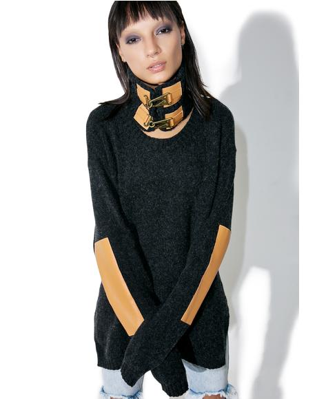 Grandview Buckled Knit Sweater