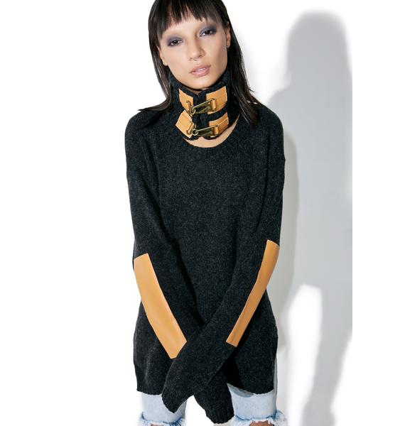 One Teaspoon Grandview Buckled Knit Sweater