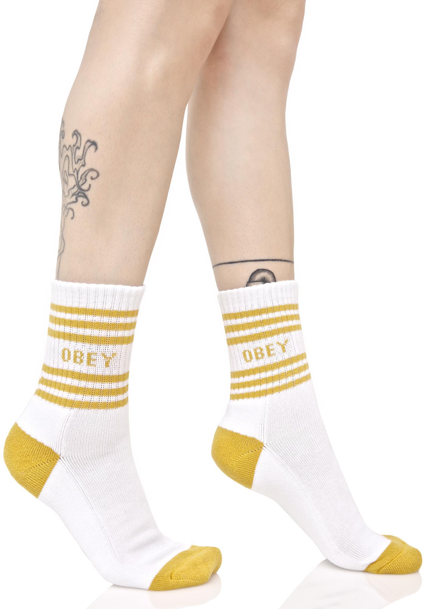 Obey Golden Taylor Crew Socks