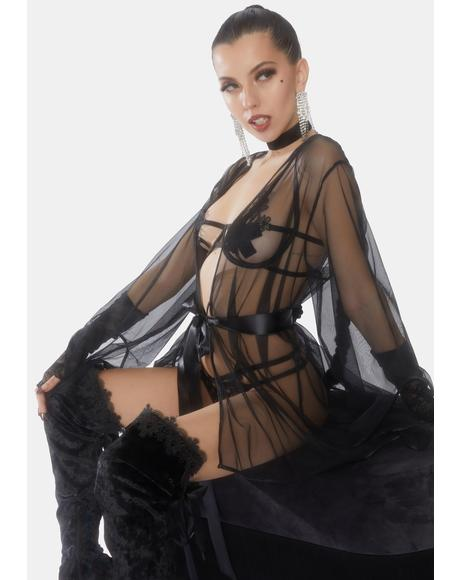 Sydney Sheer Short Robe