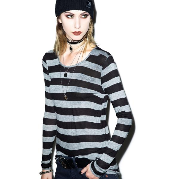 Cheap Monday Gaffa Stripe Mind Tee
