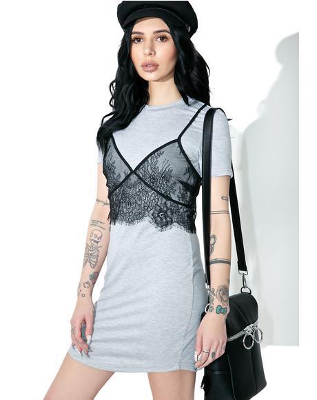 Slummin� It Lace Layer Dress