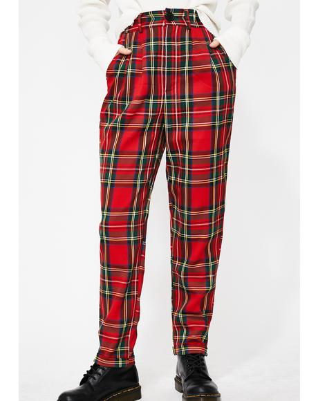 Rebel Instinct Plaid Pants