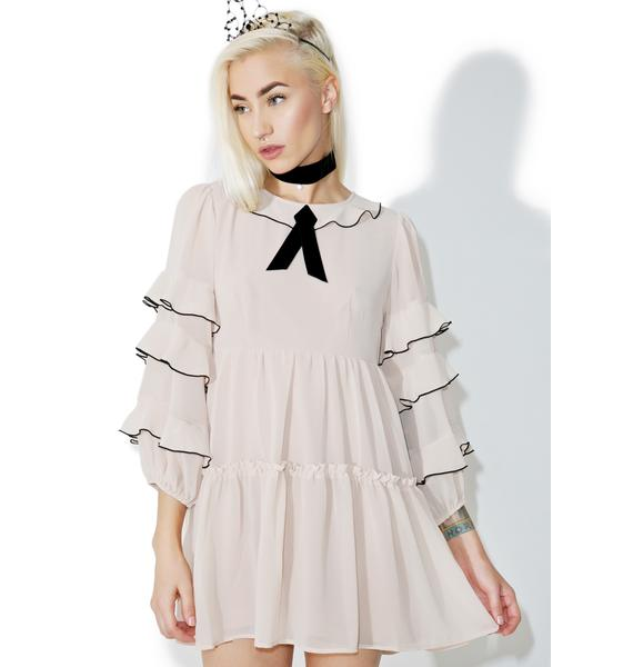 For Love & Lemons Souffle Ruffle Dress
