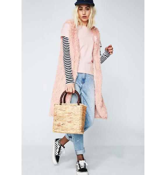Sun Kissed Straw Handbag