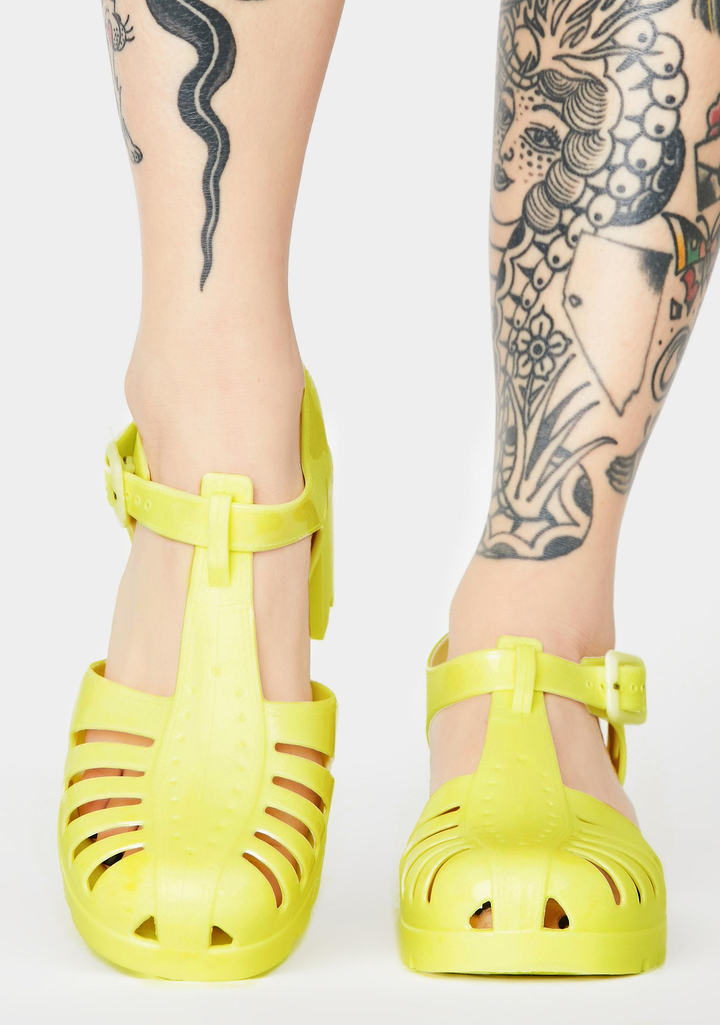 Lemonade Total Transparency Jelly Shoes