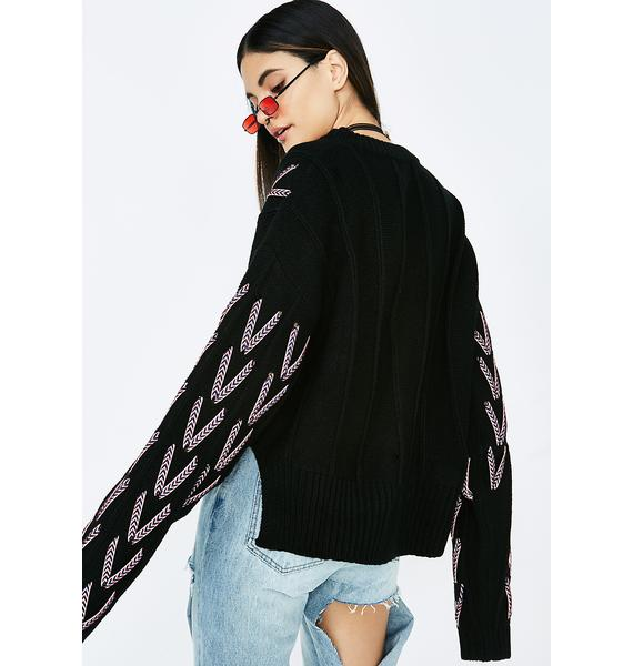 Werk It Out Laced Sweater