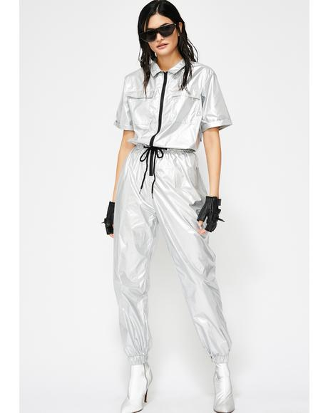 Chroma Collision Metallic Jumpsuit
