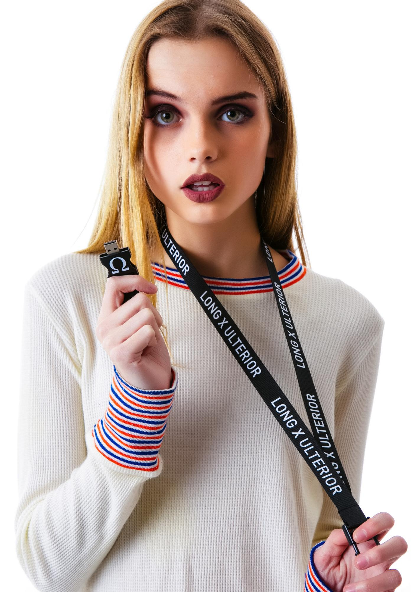 Long Clothing x Ulterior USB Keychain Lanyard