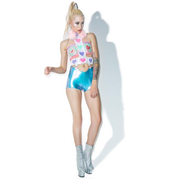Sparkl Reversible Hologram Mermaid Shorts
