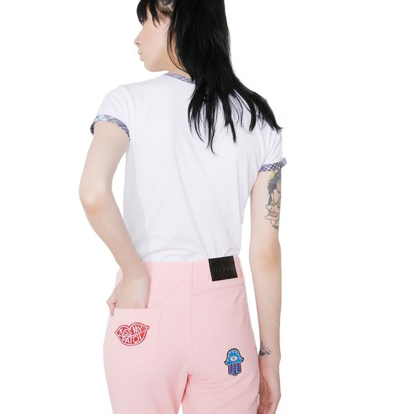 Eli'Noir Pretty In Pink Jeans