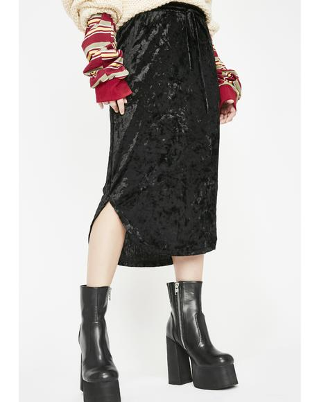 Sinful Straight Crushin' Midi Skirt