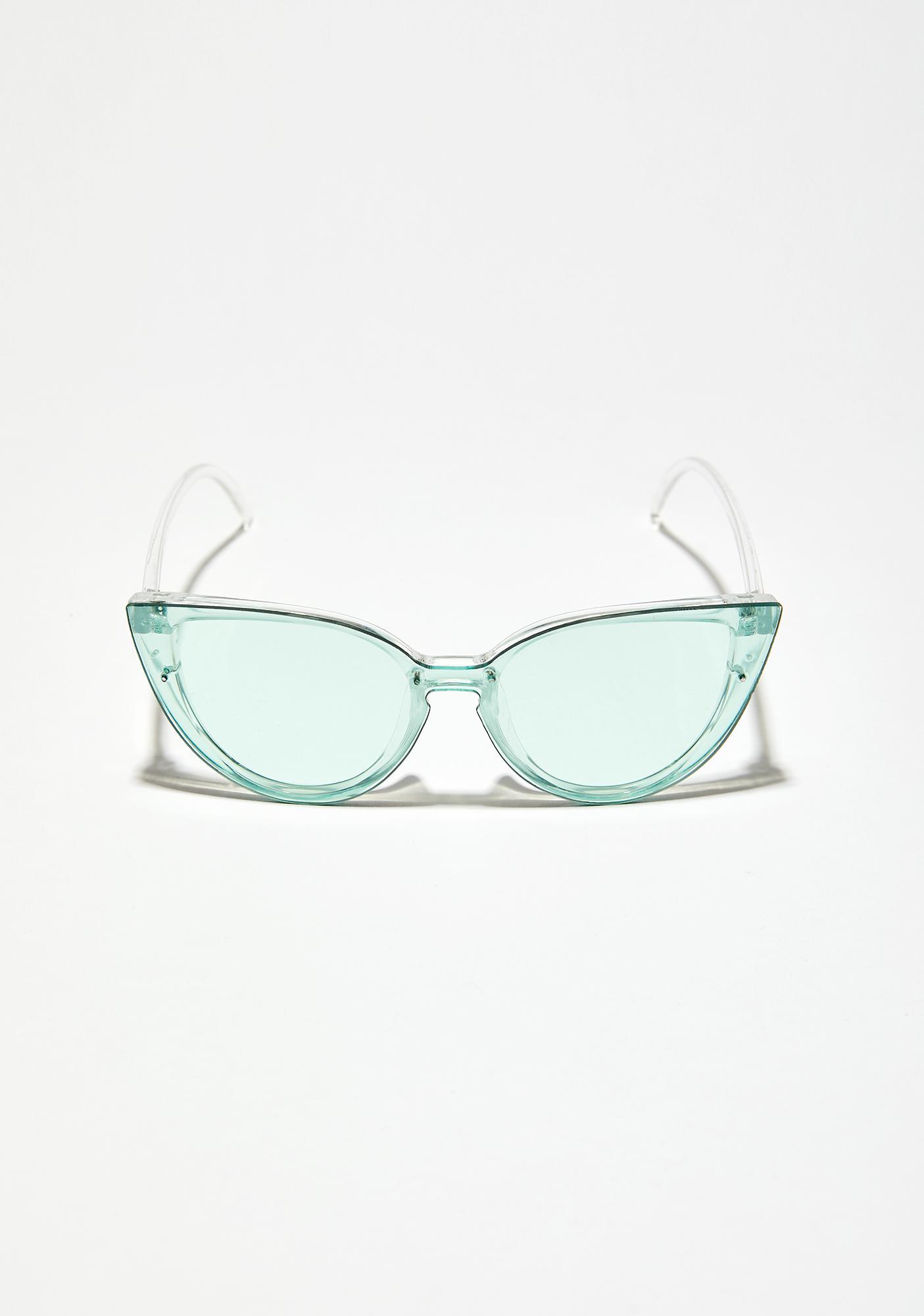 Minty Fresh Oversize Sunglasses