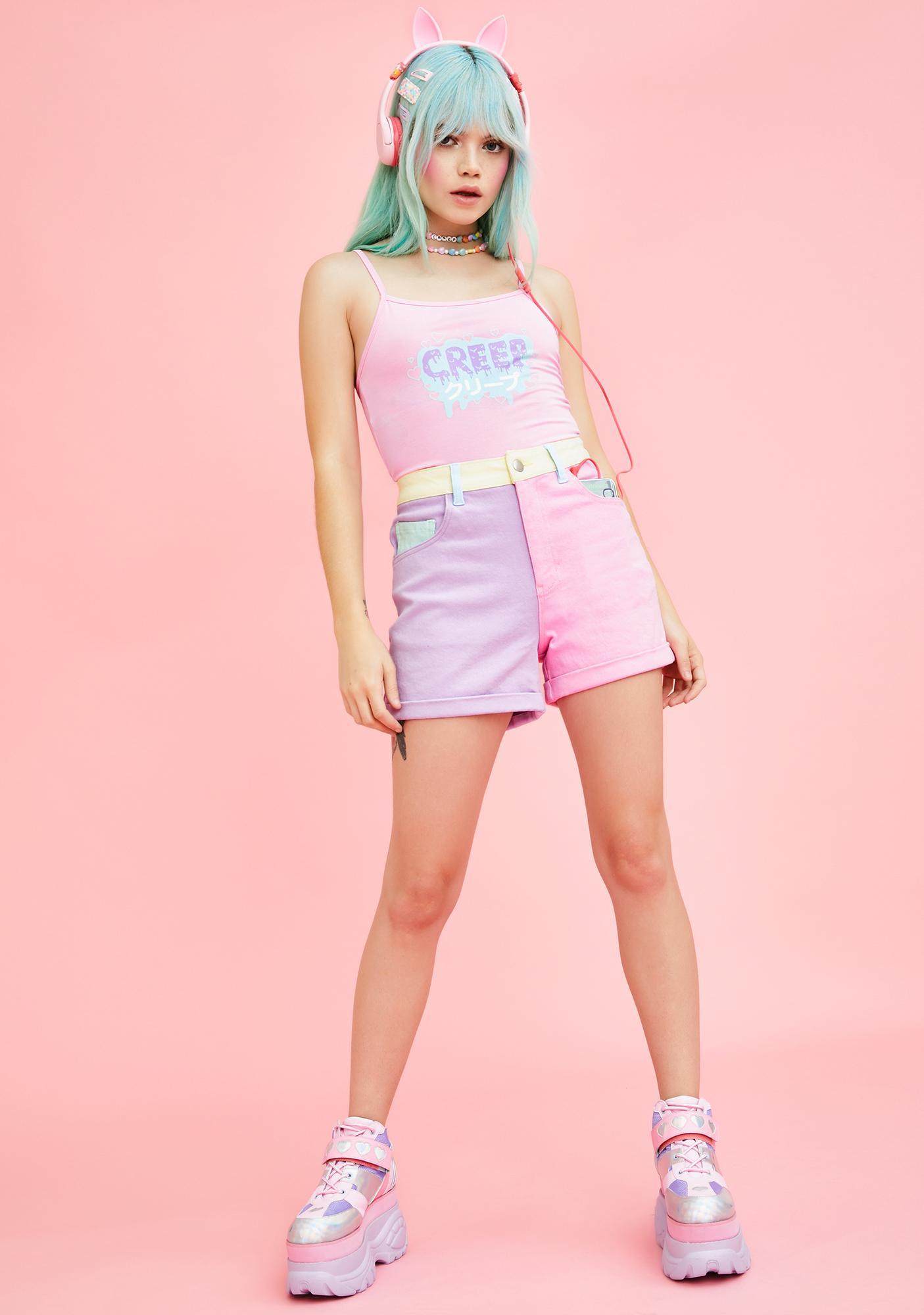 Sugar Thrillz Crush On U Colorblock Shorts