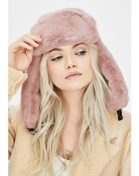 Fresh Powder Fur Trapper Hat