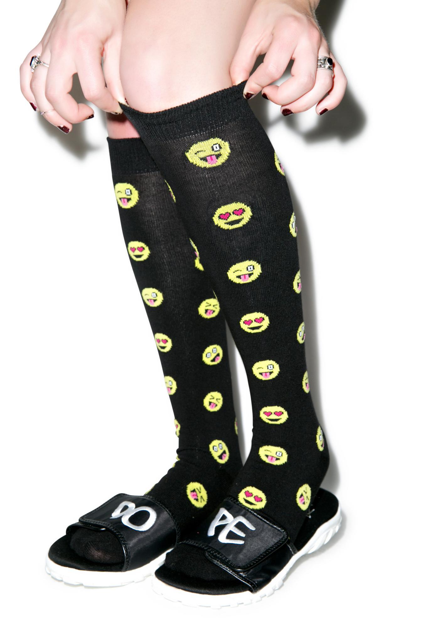 Emoji Knee Highs