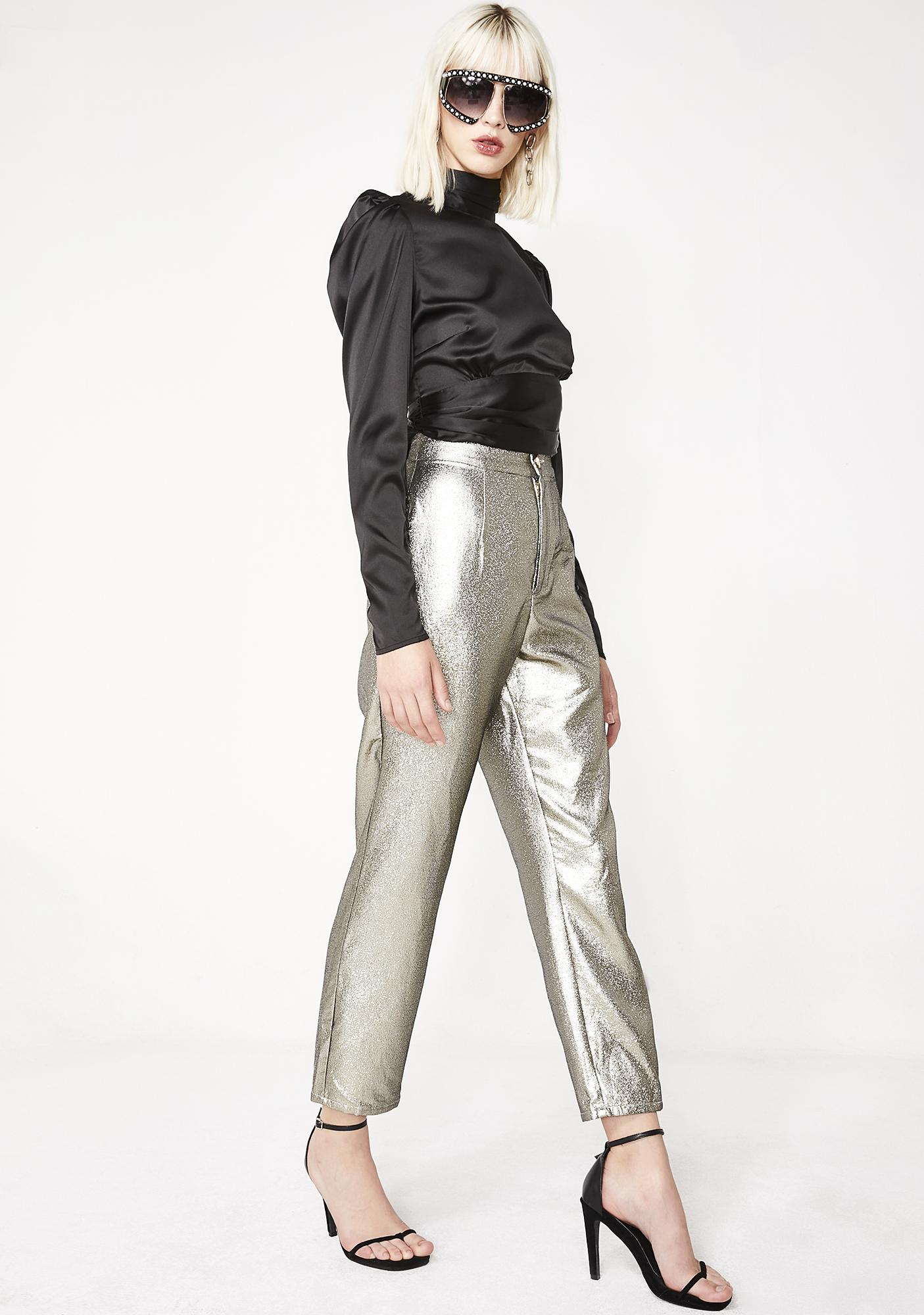 Show Me Your Mumu Shimmer Hepburn Pants
