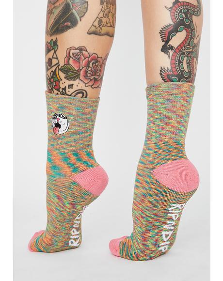 Pastel Pill Mid Socks