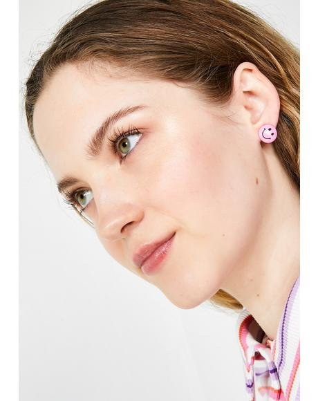 Big Mood Happy Face Earrings