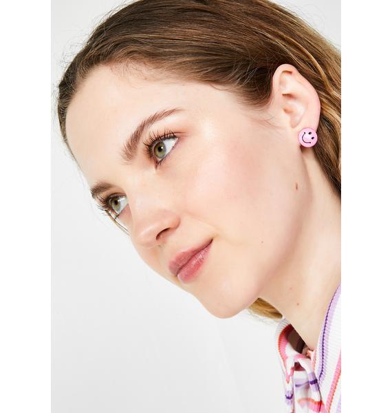Big Mood Happy Face Earrings