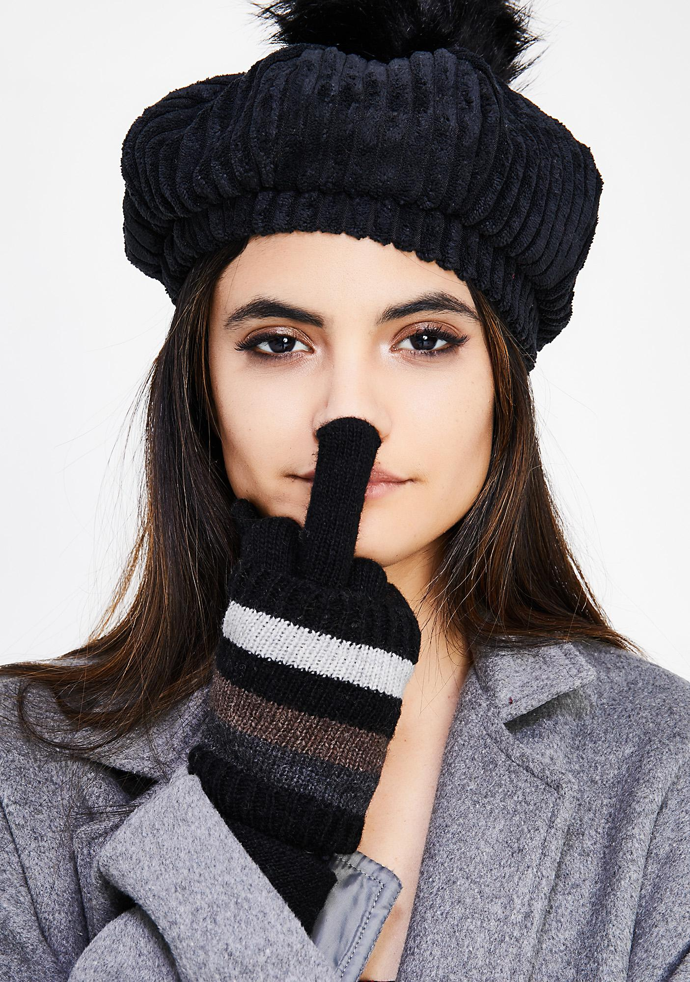Wanderlust Striped Gloves