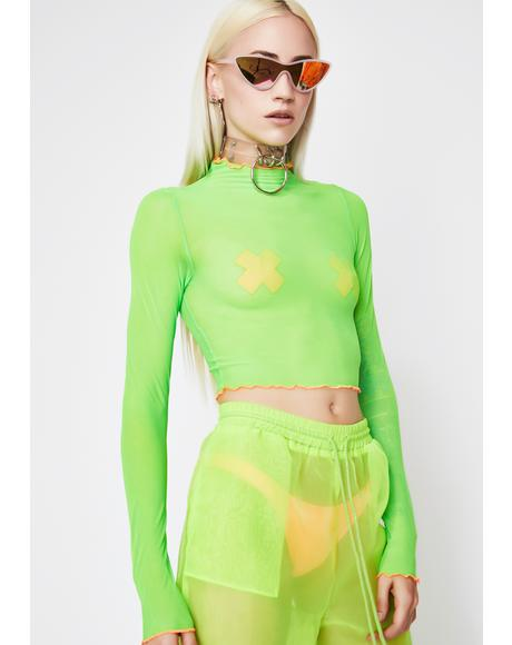 Toxic Criminal Mesh Top