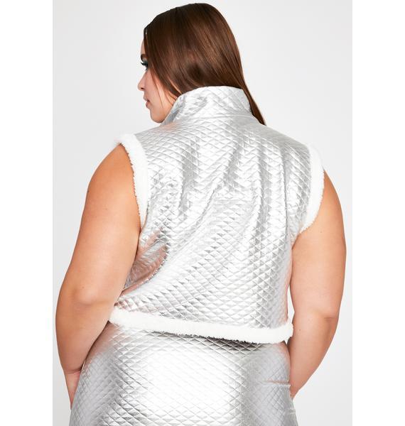 Chrome Forever Flirting With Disaster Fuzzy Vest