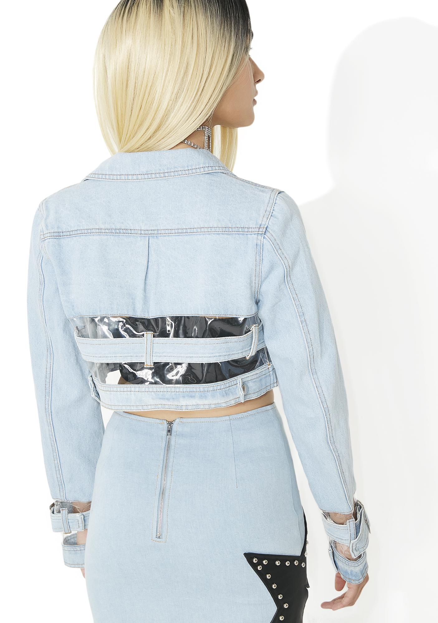 Replicant Clear Paneled Denim Jacket