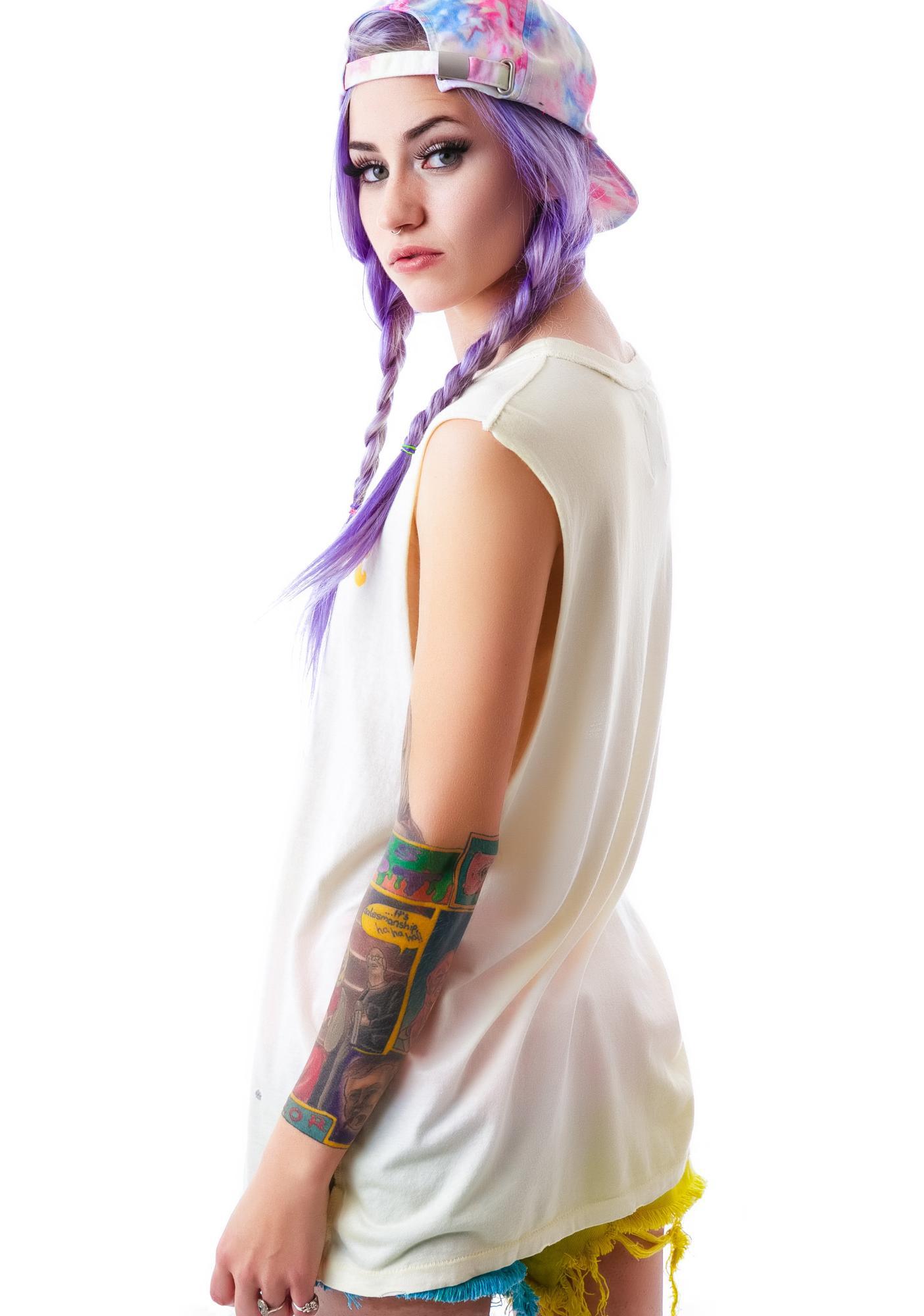 UNIF Long Hair Sleeveless Tee