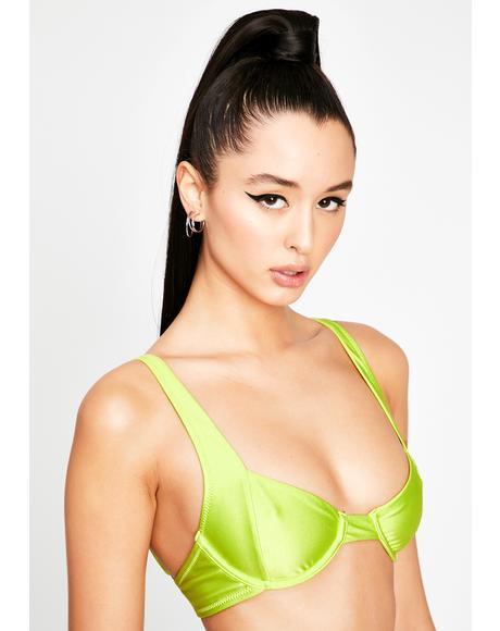 Green Sanguine Soft Cup Bikini Top