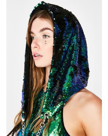 Merbae Sparklin' Shaman Sequin Hood