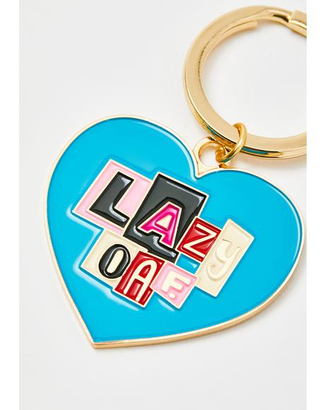 Letter Patch Keychain
