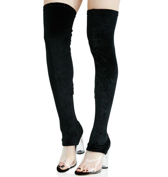 Public Desire Kiara Perspex Thigh-High Boots