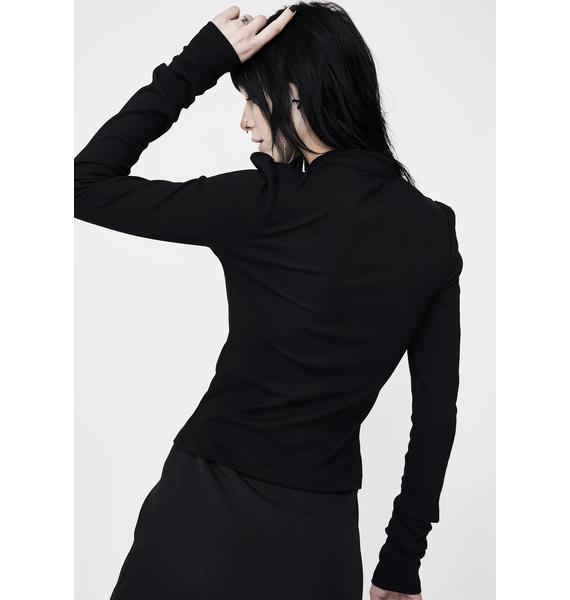Punk Rave Hollow Out Long Sleeve Top