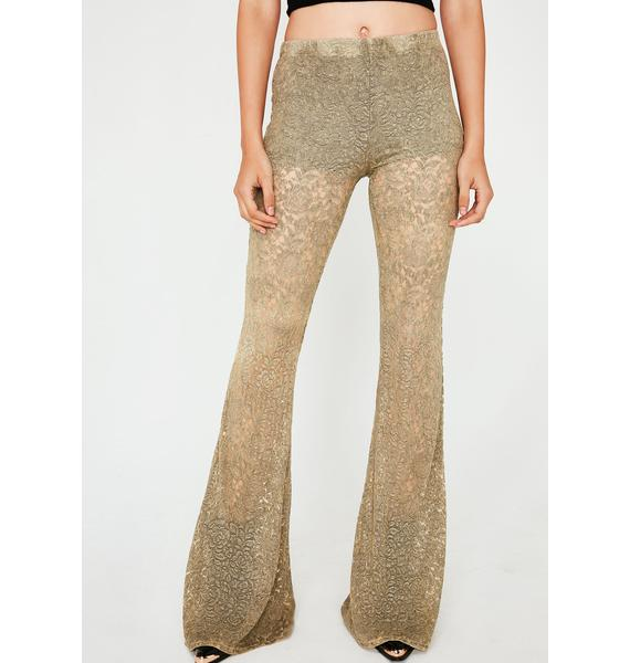 Smokin' Flowers Lace Flares