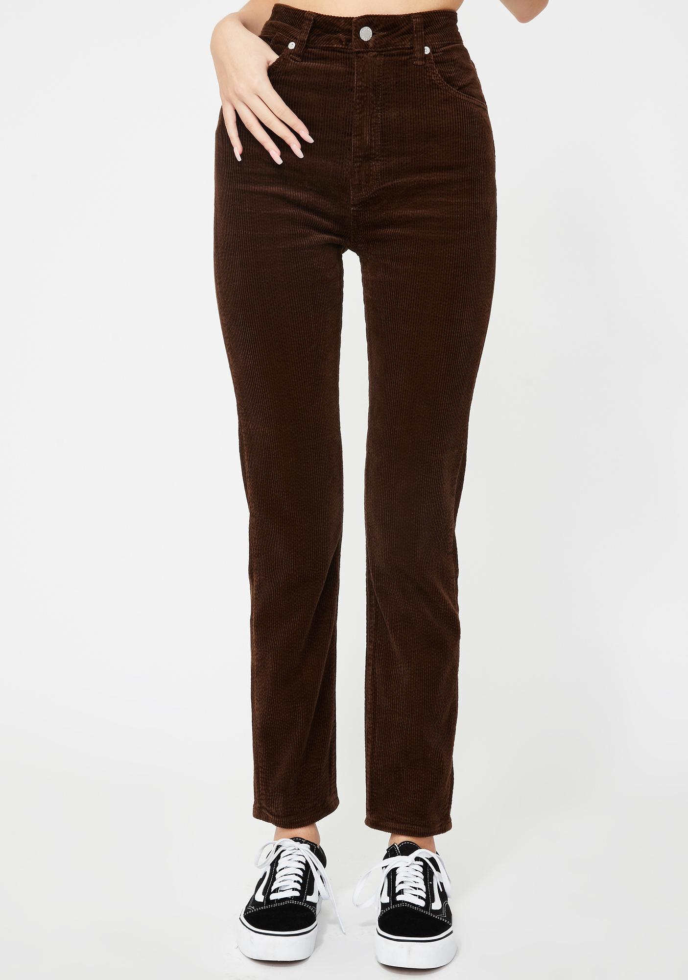 Rollas Brown Cord Dusters Skinny Pants