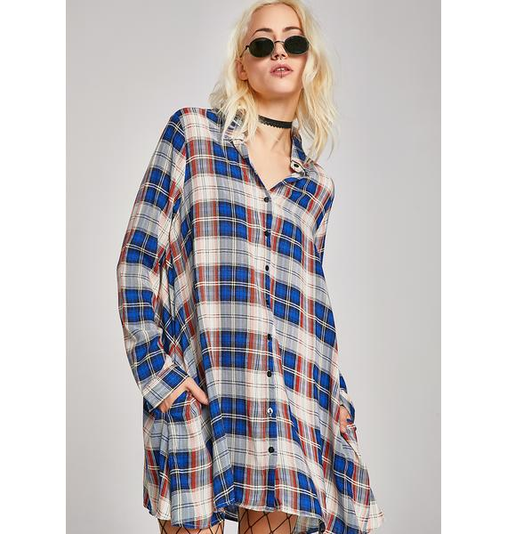 Tardy Party Plaid Dress